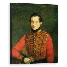 Tablou Canvas - A. Chelyshev - Portretul Poetului Michail Lermontov, fig. 1