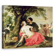 Tablou Canvas - A. Janssens - Venus si Adonis, fig. 1