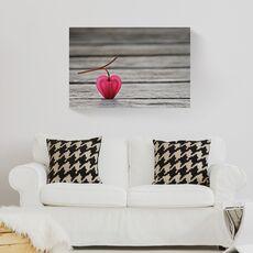 Tablou Canvas -  Floare, Roz, Lemn, fig. 2