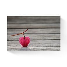Tablou Canvas -  Floare, Roz, Lemn, fig. 1