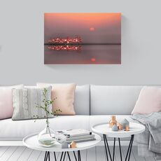 Tablou Canvas -  Flamingo, Rasarit, Soare, Africa, fig. 2