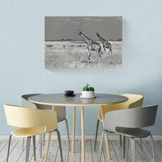 Tablou Canvas -  Girafe, Savana, Africa, Pereche, fig. 2