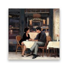 Tablou Canvas - Vintage, Restaurant, Paris, Romantic, fig. 1
