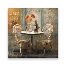 Tablou Canvas - Paris, Vintage, Terasa, Vin, fig. 1