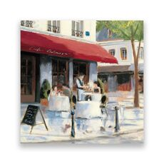 Tablou Canvas - Bistro I, Strada, Paris, Vintage, fig. 1