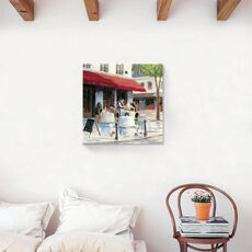 Tablou Canvas - Bistro I, Strada, Paris, Vintage, fig. 2