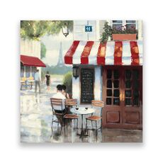 Tablou Canvas - Bistro II, Strada, Paris, Vintage, Turnul Eiffel, fig. 1