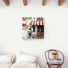 Tablou Canvas - Bistro II, Strada, Paris, Vintage, Turnul Eiffel, fig. 2