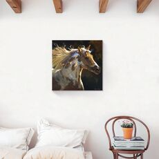 Tablou Canvas - Animal, Cal, Indian, Salbatic, Pana, fig. 2