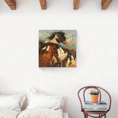 Tablou Canvas - Animal, Cal, Indian, Salbatic, fig. 2