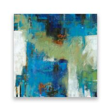 Tablou Canvas - Abstract I, Albastru, Verde, fig. 1