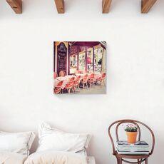 Tablou Canvas - Bistro, Terasa, Strada, fig. 2