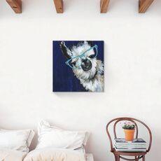 Tablou Canvas - Animal, Lama, Ochelari, Pictura, fig. 2