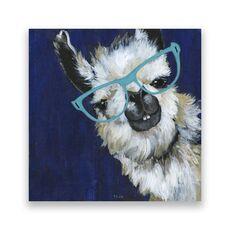 Tablou Canvas - Animal, Lama, Ochelari, Pictura, fig. 1