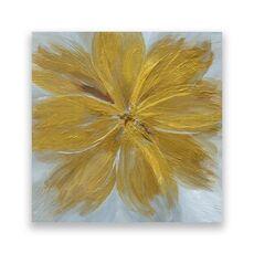 Tablou Canvas - Floral, Flori, Galben, fig. 1