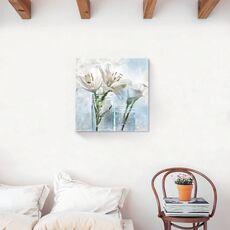 Tablou Canvas - Floral, Flori, Crin, Vaza, Alb, fig. 2