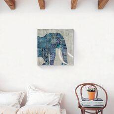 Tablou Canvas - Animal, Elefant, Africa, Pictura, Albastru, fig. 2