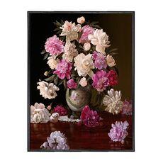 Tablou Canvas Inramat - Canbox - Flori, Floare, Bujori, Primavara, Rama Neagra, fig. 1