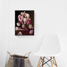 Tablou Canvas Inramat - Canbox - Flori, Floare, Bujori, Primavara, Rama Neagra, fig. 2
