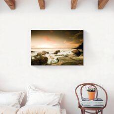 Tablou Canvas - Val, Stinca, Ocean, Apus, fig. 2