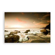 Tablou Canvas - Val, Stinca, Ocean, Apus, fig. 1