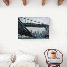 Tablou Canvas - New York, Oras, Pod, Cladiri, Pictura, fig. 2