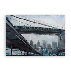 Tablou Canvas - New York, Oras, Pod, Cladiri, Pictura, fig. 1