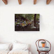Tablou Canvas - Oras, Flori, Piata, Pictura, fig. 2