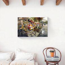 Tablou Canvas - Oras, Pictura, Piata, Flori, fig. 2