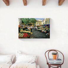Tablou Canvas - Oras, Piata, Flori, Legume, Pictura, fig. 2