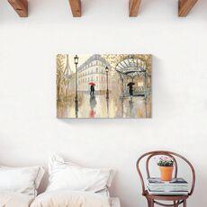 Tablou Canvas - Franta, Paris, Turnul Eiffel, Oras, Cladiri, Oameni, Umbrela, Pictura, fig. 2