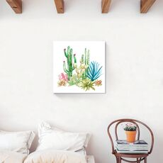 Tablou Canvas -  Cactus I, Aloe, Verde, Plante, Pictura, fig. 2