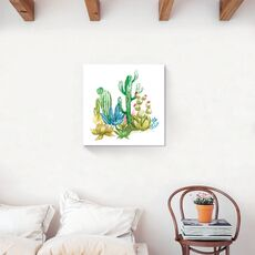 Tablou Canvas -  Cactus II, Aloe, Verde, Plante, Pictura, fig. 2