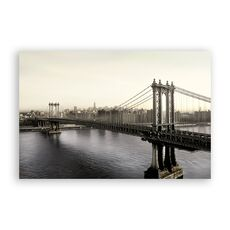 Tablou Canvas - Brooklyn Bridge, Pod, Oras, Cladiri, Arhitectura, fig. 1