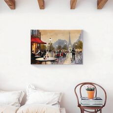 Tablou Canvas - Franta, Paris, Turnul Eiffel, Oras, Cladiri, Oameni, Romantic, Iubire, Toamna, Pictura, fig. 2
