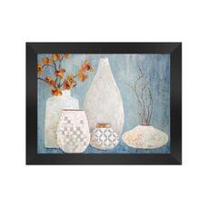 Tablou Inramat cu foita de argint - Vaze, Natura moarta, Abstarct, Rama neagra, fig. 1
