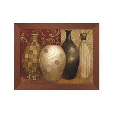 Tablou Inramat cu foita de aur - Vaze, Natura moarta, Abstarct, Rama maron, fig. 1