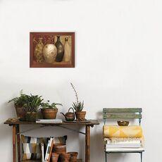Tablou Inramat cu foita de aur - Vaze, Natura moarta, Abstarct, Rama maron, fig. 2