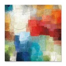 Tablou Canvas - Anotimpuri, Culori, Abstract, Rosu, Albastru, Alb, fig. 2