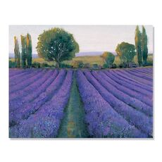 Tablou Canvas - Camp de lavanda II, Flori, Mov, Copac, fig. 2