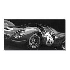 Tablou Canvas - Masina de curse II, Retro, Automobil, Alb negru, fig. 1