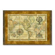 Tablou Canvas - Antique World Map, fig. 2