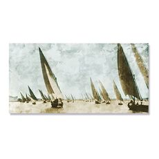 Tablou Canvas - Corabii inclinate, Mare, Apa, Barca, Retro, fig. 1