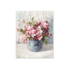 Tablou Canvas - Flori din gradina I, Natura moarta, Galeata, Retro, fig. 2