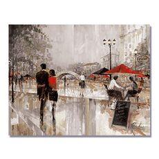 Tablou Canvas - Farmecul plimbarii I, Oras, Strada, Gri, fig. 1