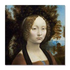 Tablou Canvas - Ginevra de Benci, Leonardo da Vinci, Femeie, Retro, fig. 1