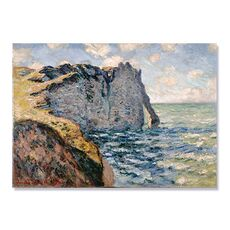 Tablou Canvas - Faleza din Aval la Etretat, Mare, Mal abrupt, Retro, fig. 1