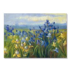Tablou Canvas - Blue and Yellow Flower Field, fig. 2