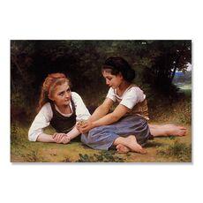 Tablou Canvas - Adunatorii de nuci, Copii, Fete, Padure, fig. 2