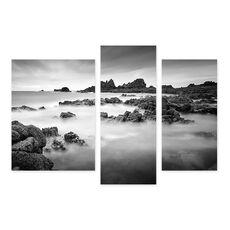 Tablou Multicanvas - Cobiere, Stanci, nori, Alb negru, fig. 1